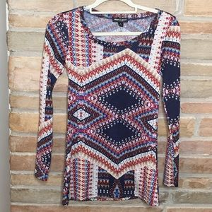 About a girl multi color long sleeves top